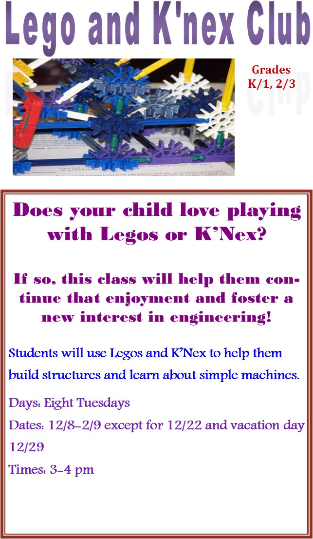 Lego and K'Nex Club