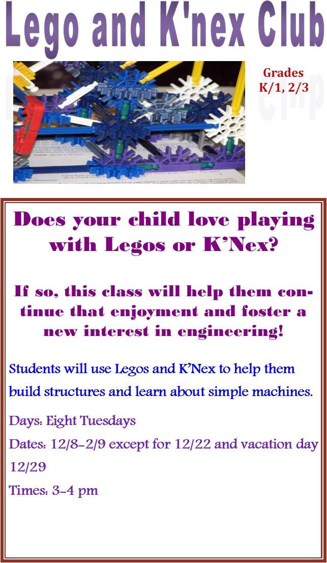 Lego and K'Nex Club